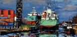 schilderij-arklow-shipping-irish-green-olieverf-op-doek-60-x-30-cm-opdracht-bodewes-shipyards