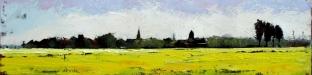 schilderij-koolzaadveld-en-met-zicht-op-bedum-olieverf-op-doek-20x80cm