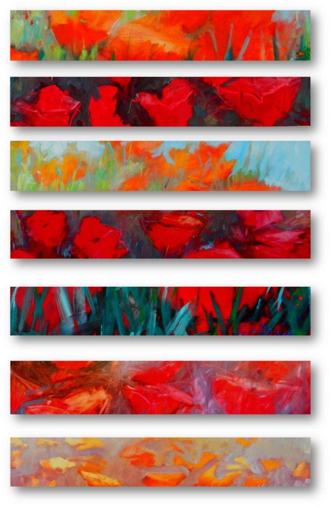 Ontwerpen voor schilderijen veldbloemen
