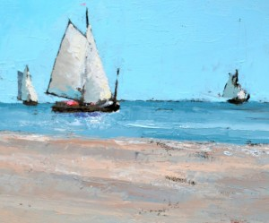 """Het schilderij """"Vaargeul & Strand Vlieland"""" afgerond"""