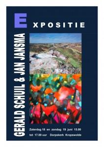 Uitnodiging expositie Gerald Schuil en Jan Jansma 18 en 19 juni